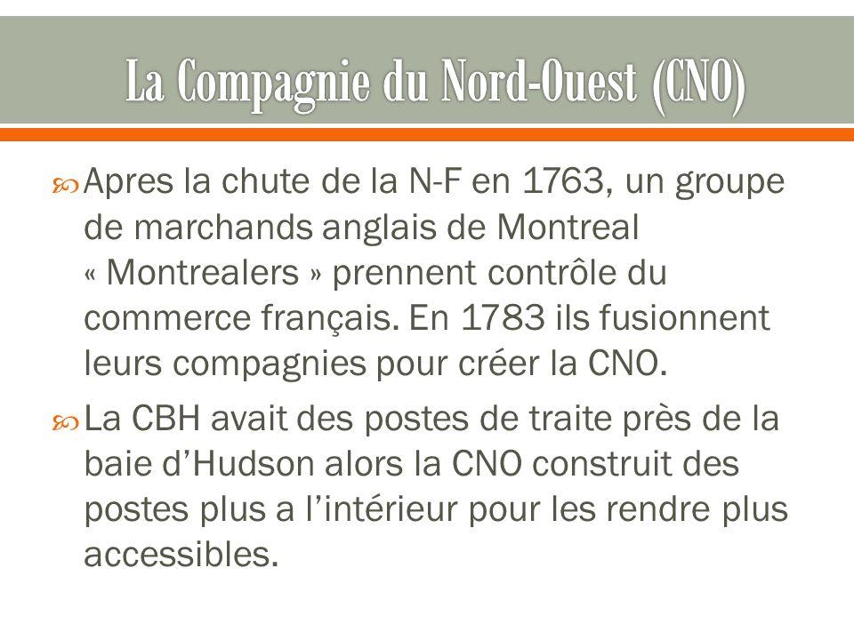 Apres la chute de la N-F en 1763, un groupe de marchands anglais de Montreal « Montrealers » prennent contrôle du commerce français.