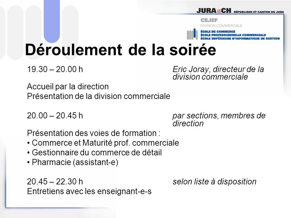 La division commerciale Eric Joray