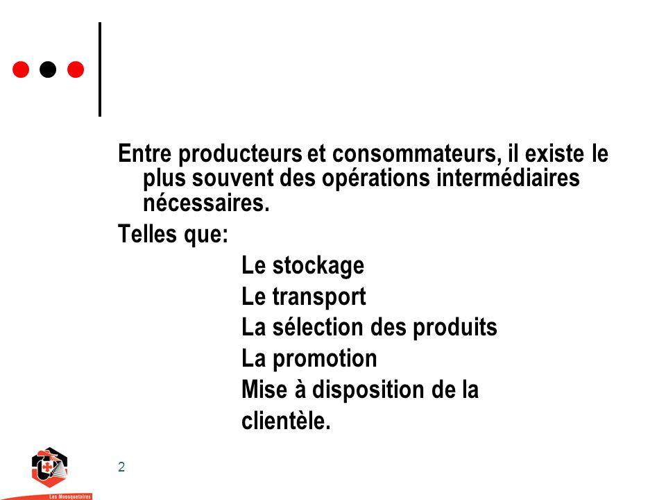 2 Entre producteurs et consommateurs, il existe le plus souvent des opérations intermédiaires nécessaires.