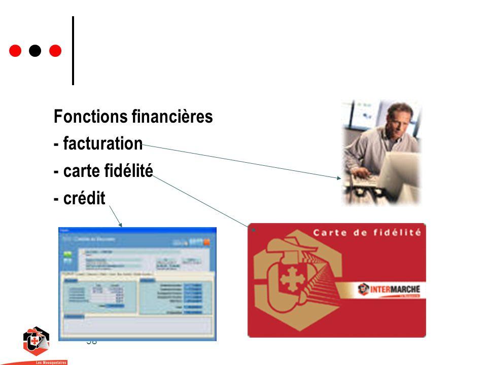 38 Fonctions financières - facturation - carte fidélité - crédit
