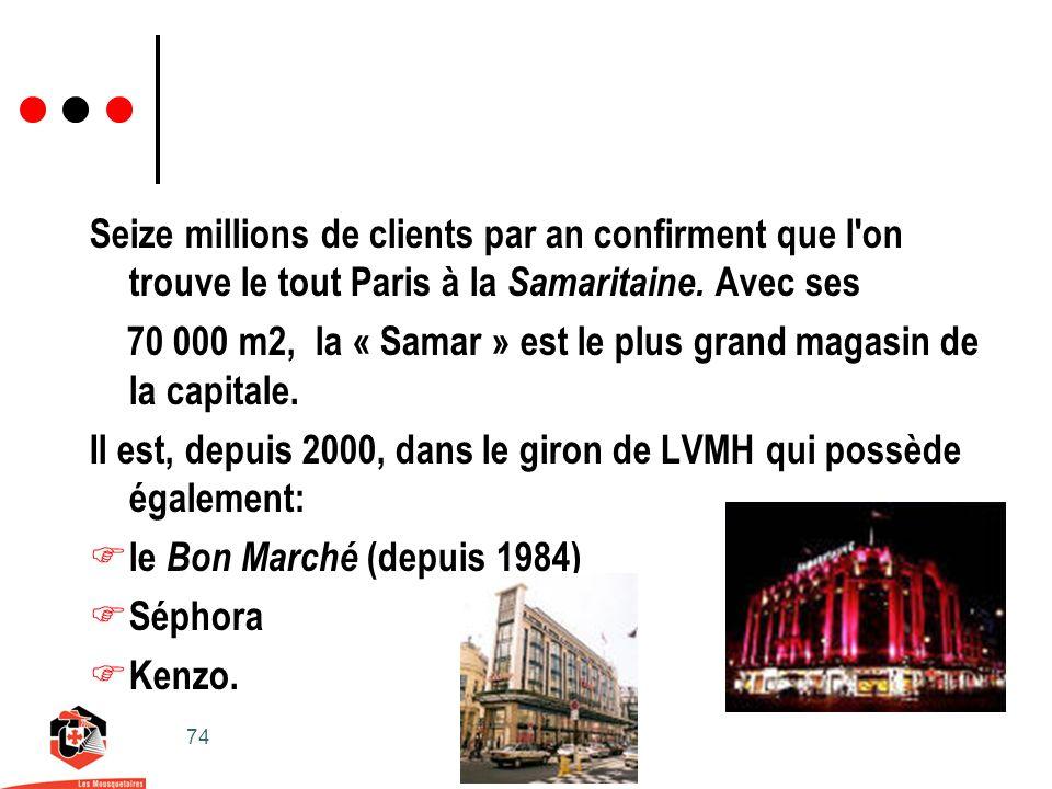 74 Seize millions de clients par an confirment que l on trouve le tout Paris à la Samaritaine.