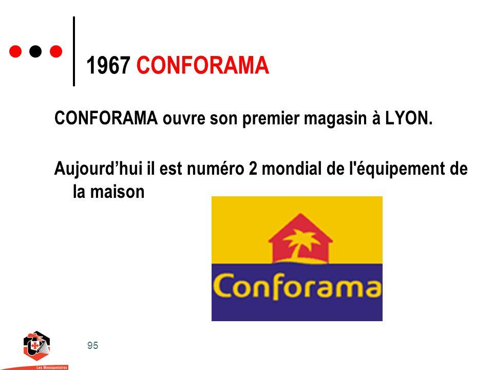 95 CONFORAMA ouvre son premier magasin à LYON.