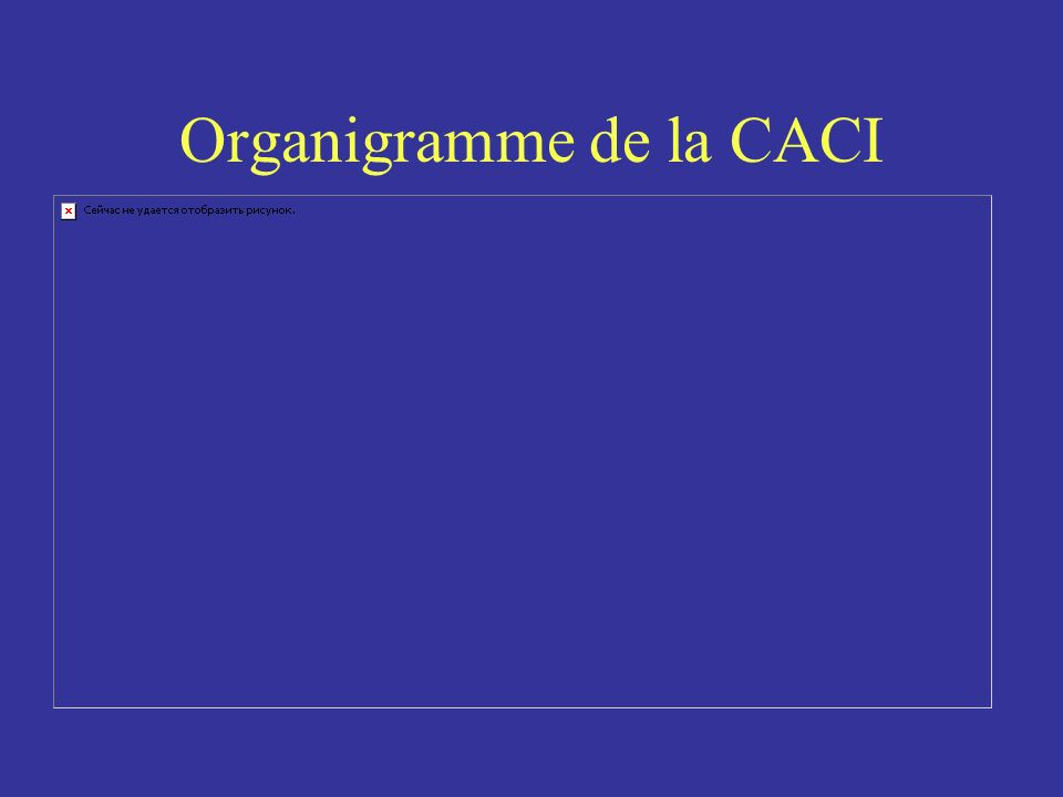 Organigramme de la CACI
