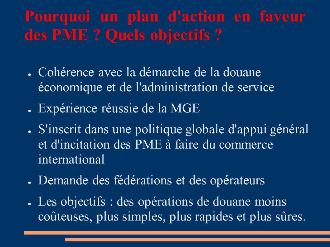 Pourquoi un plan d action en faveur des PME . Quels objectifs .
