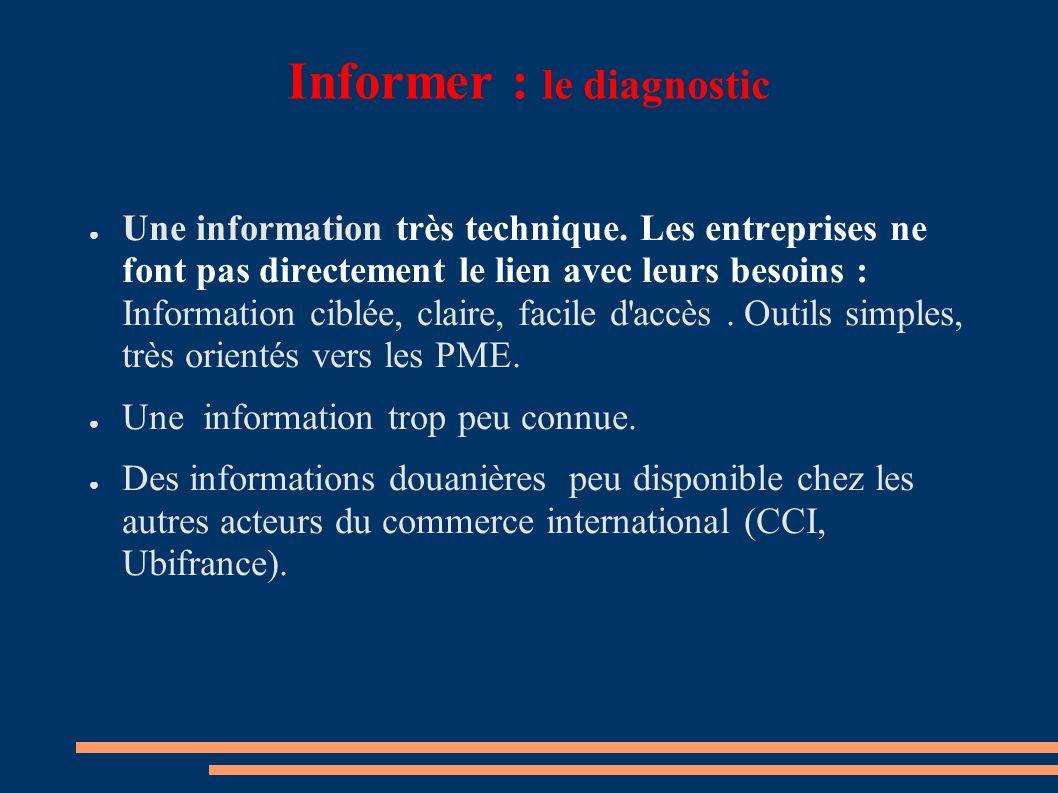Informer : le diagnostic Une information très technique.