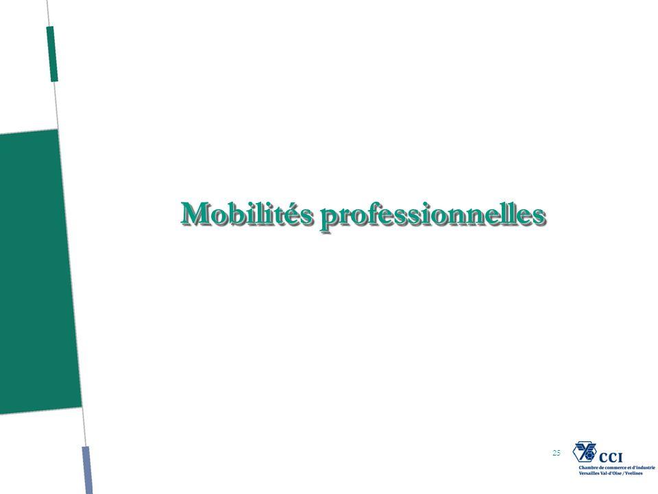 25 Mobilités professionnelles
