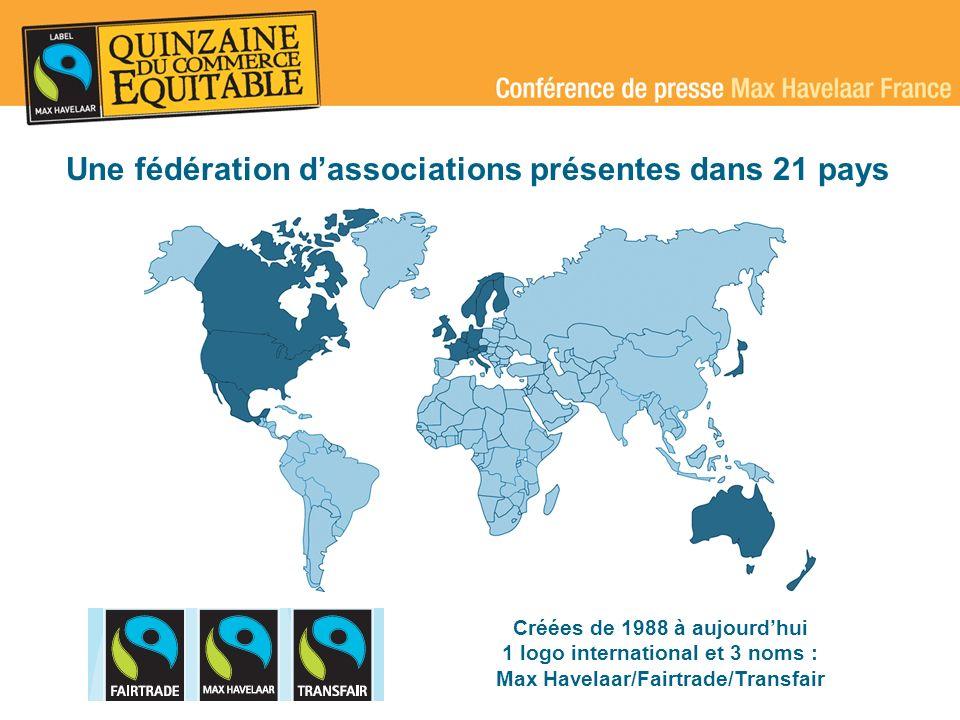 Un label pour 1 million de producteurs dans 49 pays 433 organisations de producteurs (337 organisations dans 46 pays en 2003) 95 organisations de producteurs dans 45 pays (78 organisations dans 38 pays en 2003) France International
