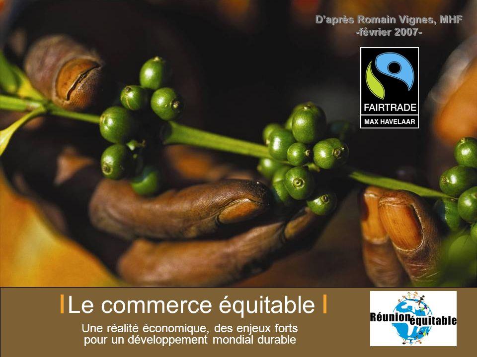 Max Havelaar France Le commerce équitable Une réalité économique, des enjeux forts pour un développement mondial durable Daprès Romain Vignes, MHF -fé