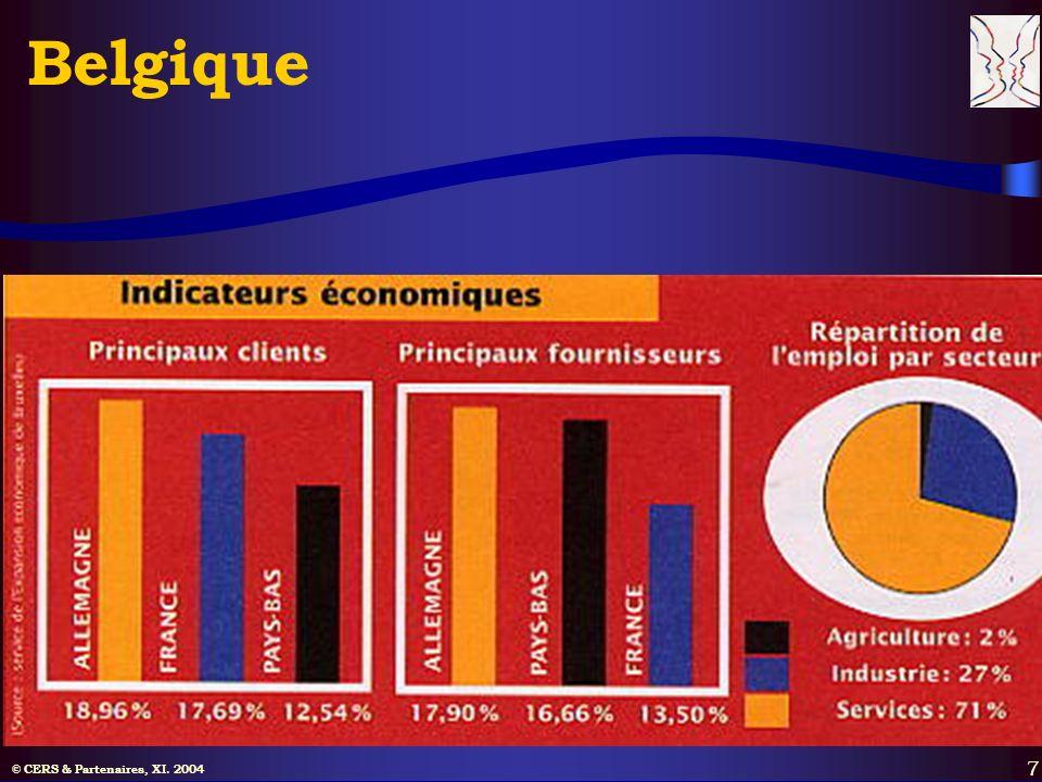 © CERS & Partenaires, XI. 2004 7 Belgique