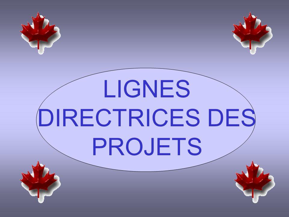 LIGNES DIRECTRICES DES PROJETS
