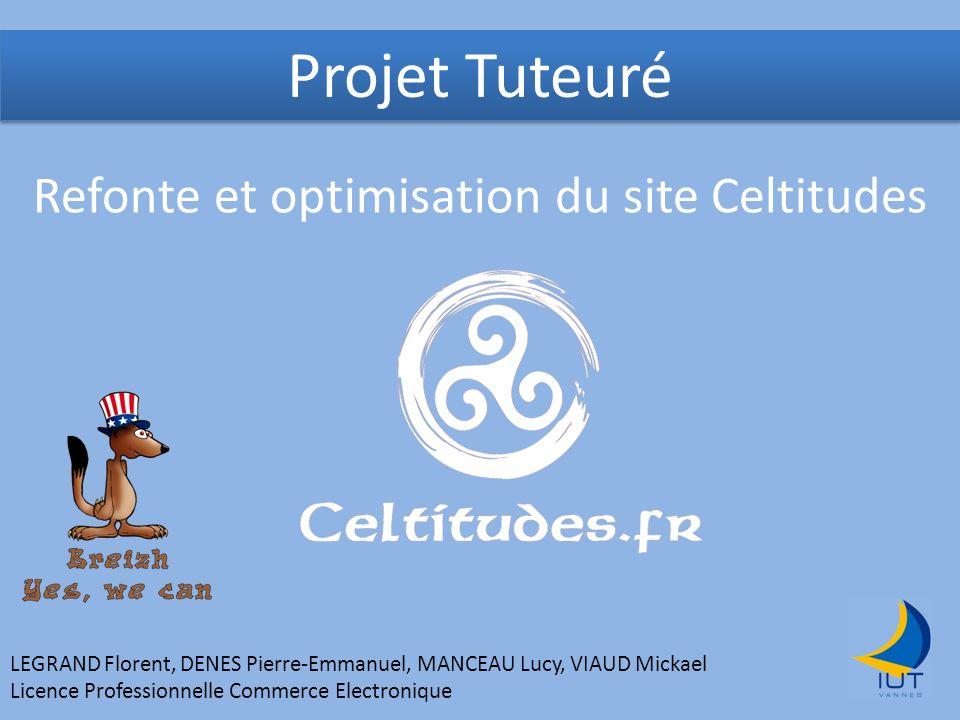 Projet Tuteuré Refonte et optimisation du site Celtitudes LEGRAND Florent, DENES Pierre-Emmanuel, MANCEAU Lucy, VIAUD Mickael Licence Professionnelle