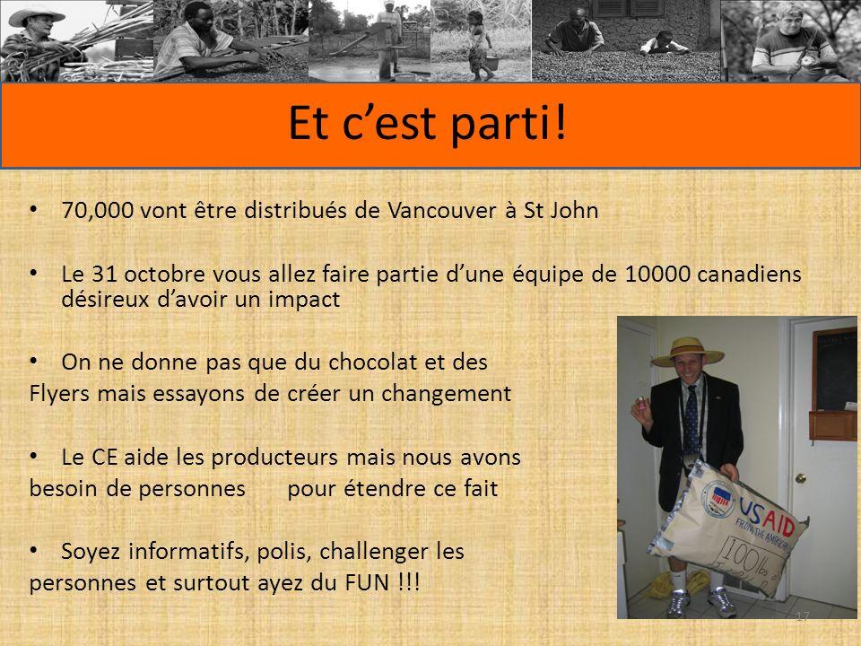 Et cest parti! 70,000 vont être distribués de Vancouver à St John Le 31 octobre vous allez faire partie dune équipe de 10000 canadiens désireux davoir
