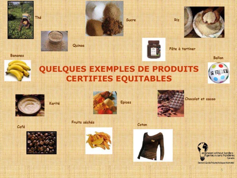 Le commerce équitable Un symbole reconnu nationalement et de plus en plus recherché Produits équitables au Canada: 1995 : Café – Ventes ont augmenté de 5 m t/an 2002 : Chocolat Plus de 40 chocolateries http://transfair.ca/en/about-fairtrade/facts-figures#2 6