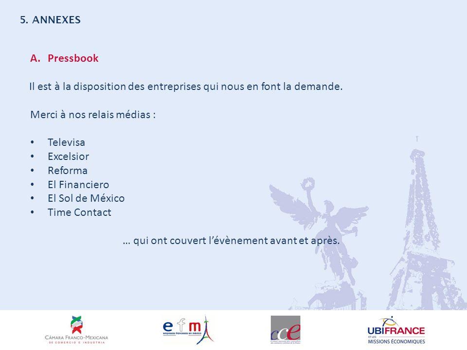 5. ANNEXES A.Pressbook Il est à la disposition des entreprises qui nous en font la demande.