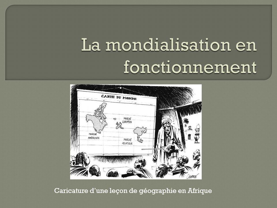Caricature dune leçon de géographie en Afrique