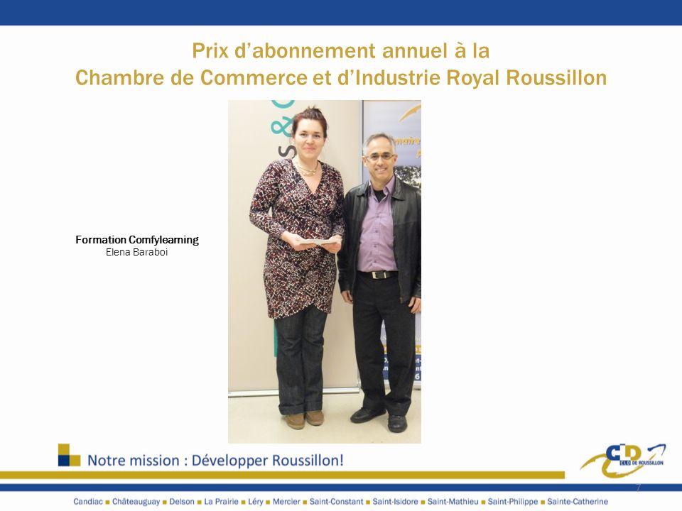Prix dabonnement annuel à la Chambre de Commerce et dIndustrie Royal Roussillon 7 Formation Comfylearning Elena Baraboi
