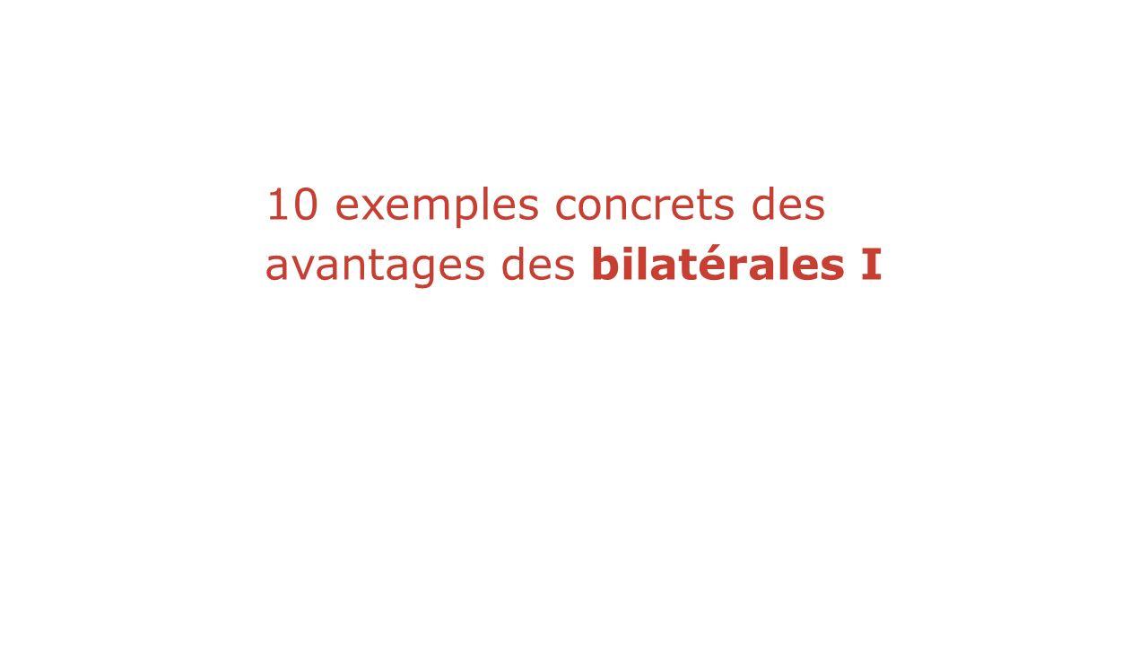 10 exemples concrets des avantages des bilatérales I