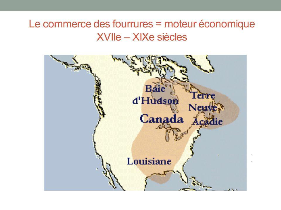 Le commerce des fourrures = moteur économique XVIIe – XIXe siècles