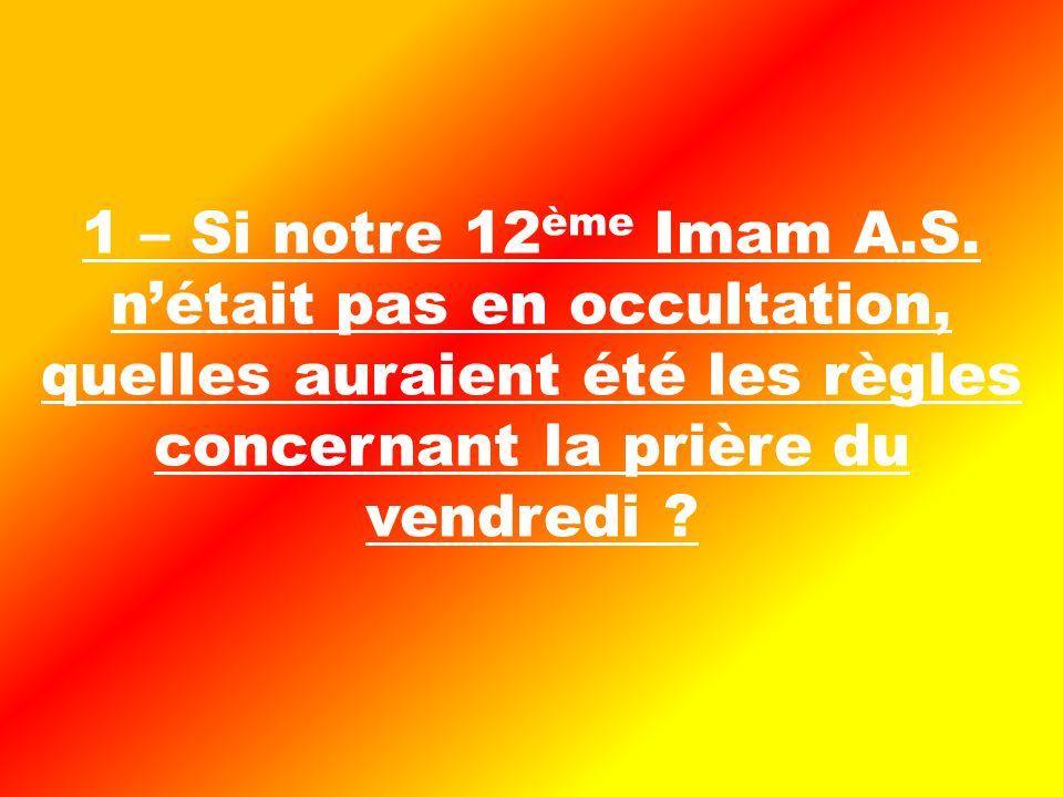 1 – Si notre 12 ème Imam A.S.