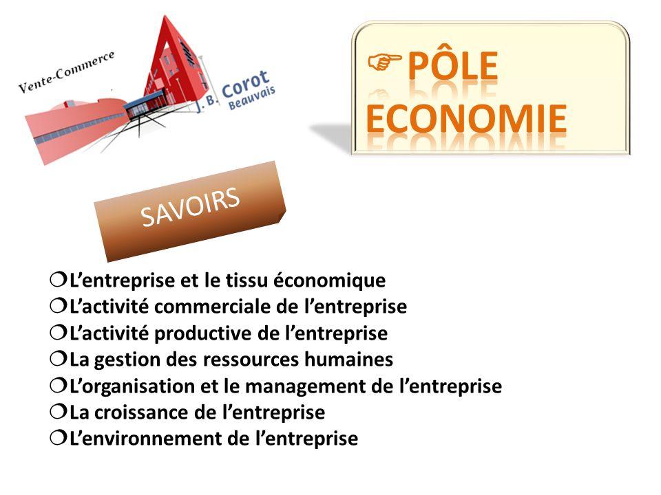 Lentreprise et le tissu économique Lactivité commerciale de lentreprise Lactivité productive de lentreprise La gestion des ressources humaines Lorgani