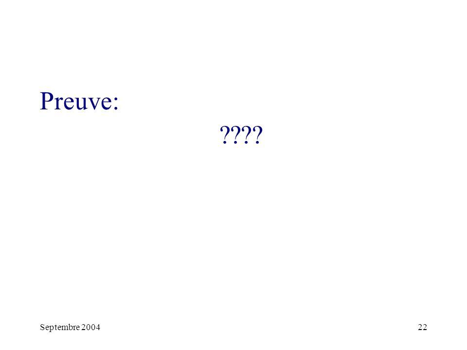 Septembre 200422 Preuve: ????