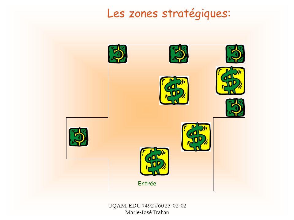 UQAM, EDU 7492 #60 23-02-02 Marie-José Trahan Entrée Les zones stratégiques:
