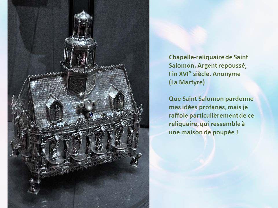 Chefs-reliquaires de Saint Jean-Baptiste; Bois polychrome, XVI° siècle. (Ploudiry)