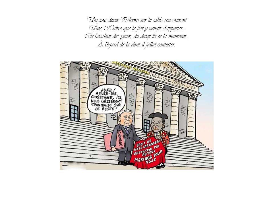 Jean de la Fontaine L'Huître et les Plaideurs Par Nanou et Stan La justice modèle Taubira