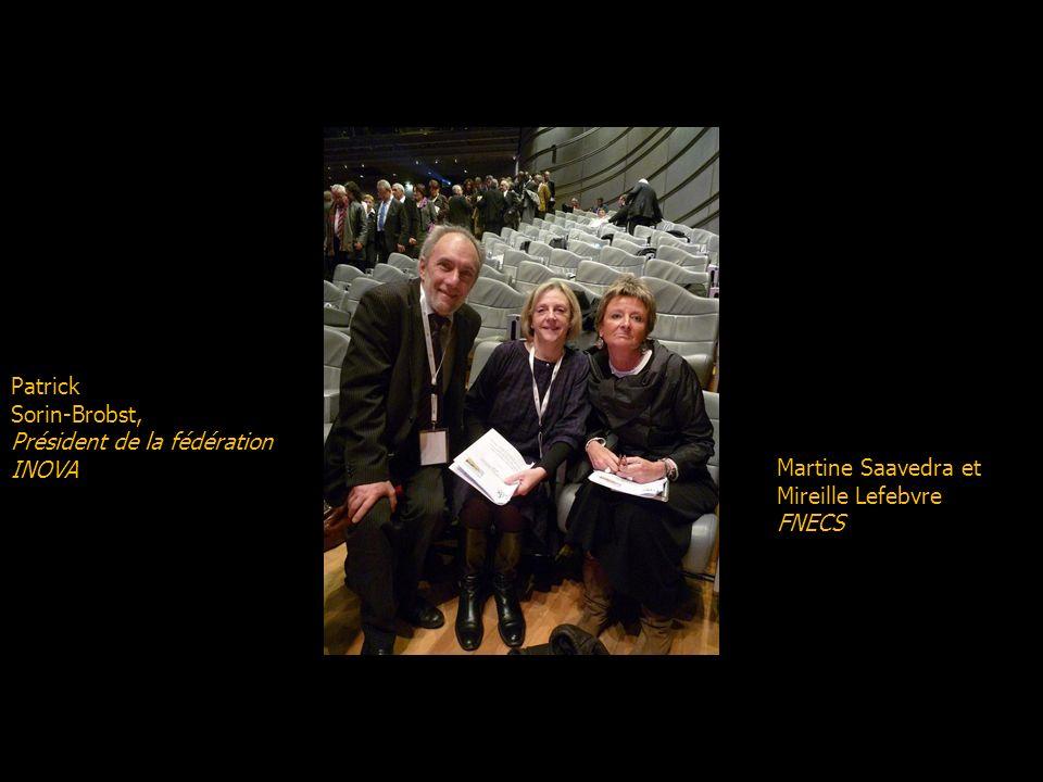De gauche à droite : Pierre Personne (DSC Manpower) candidat FNECS au poste de délégué national Mireille Lefebvre (Habillement) candidate FNECS au pos