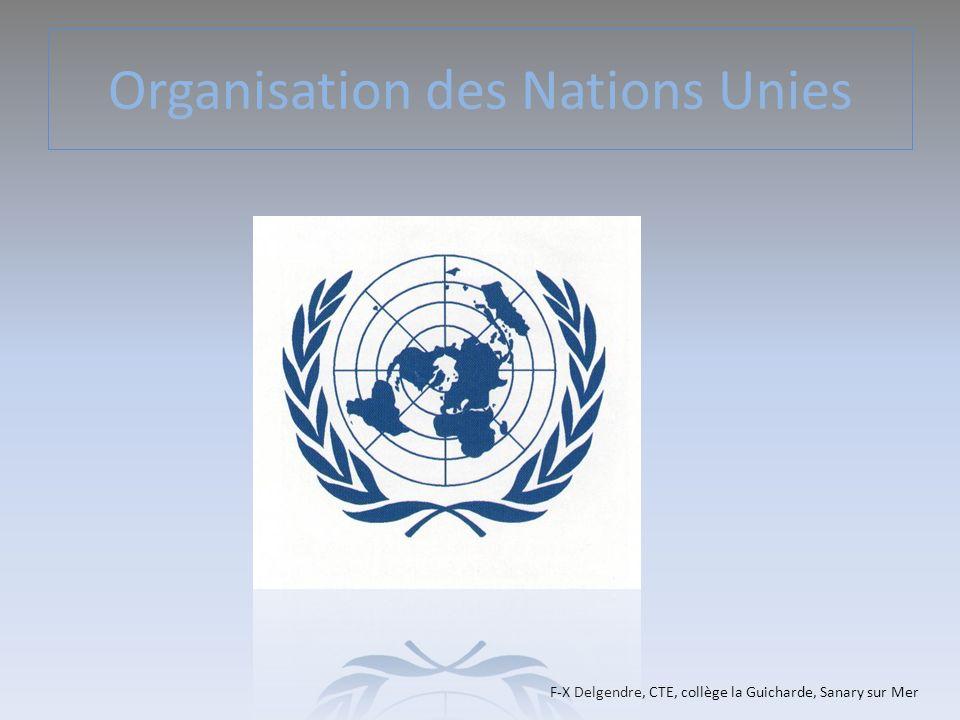 Organisation des Nations Unies F-X Delgendre, CTE, collège la Guicharde, Sanary sur Mer