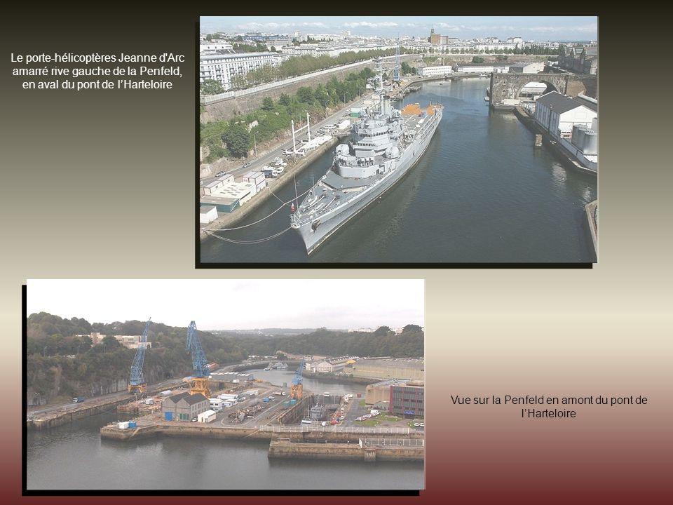 La Penfeld dans la base navale de Brest