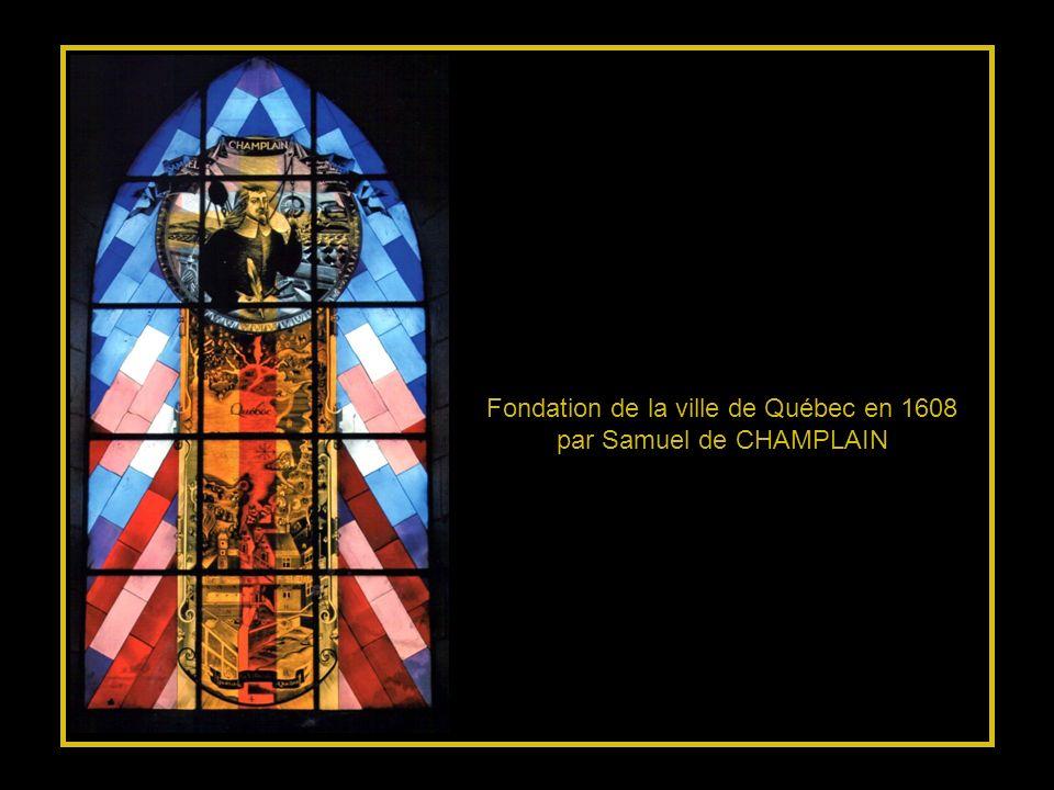 Hommage à BROUAGE, La croix symbolise lenracinement des pionniers français soutenus par leur courage et leur foi…