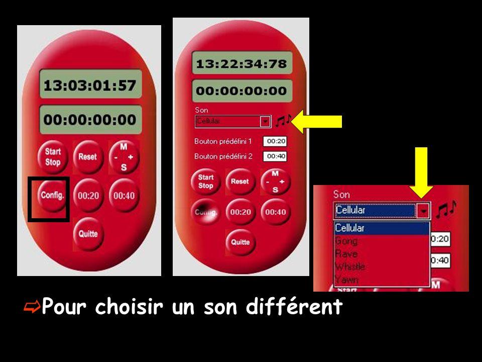 Pour prédéfinir deux boutons avec des temps fixes (compte à rebours programmables) Pour pré-définir deux durées qui seront mémorisées