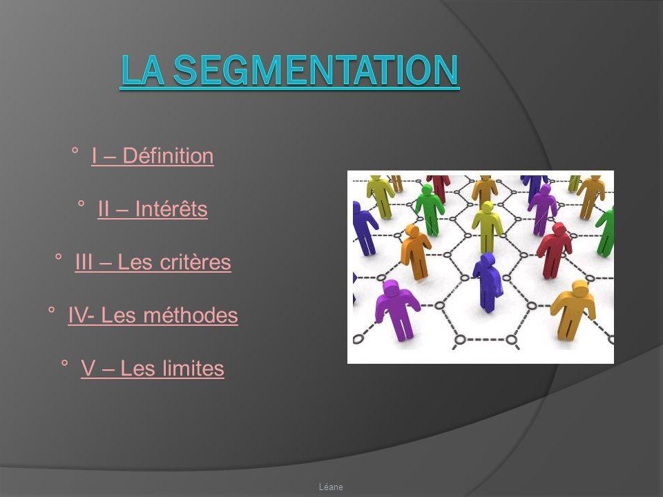 ° I – Définition ° II – Intérêts ° III – Les critères ° IV- Les méthodes ° V – Les limites Léane