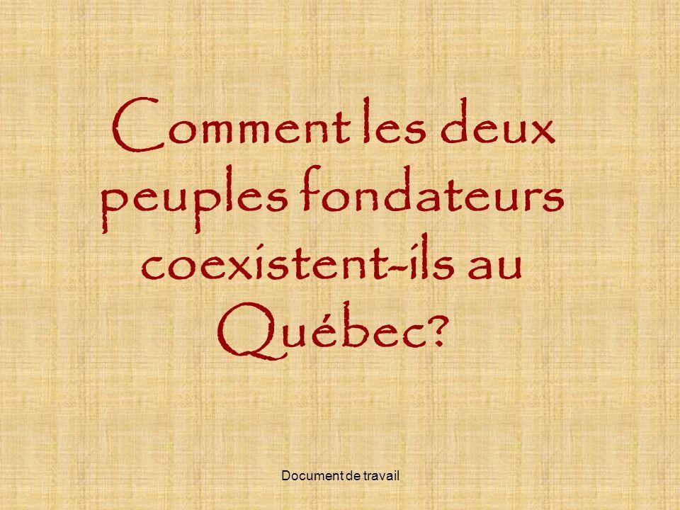 Comment les deux peuples fondateurs coexistent-ils au Québec?