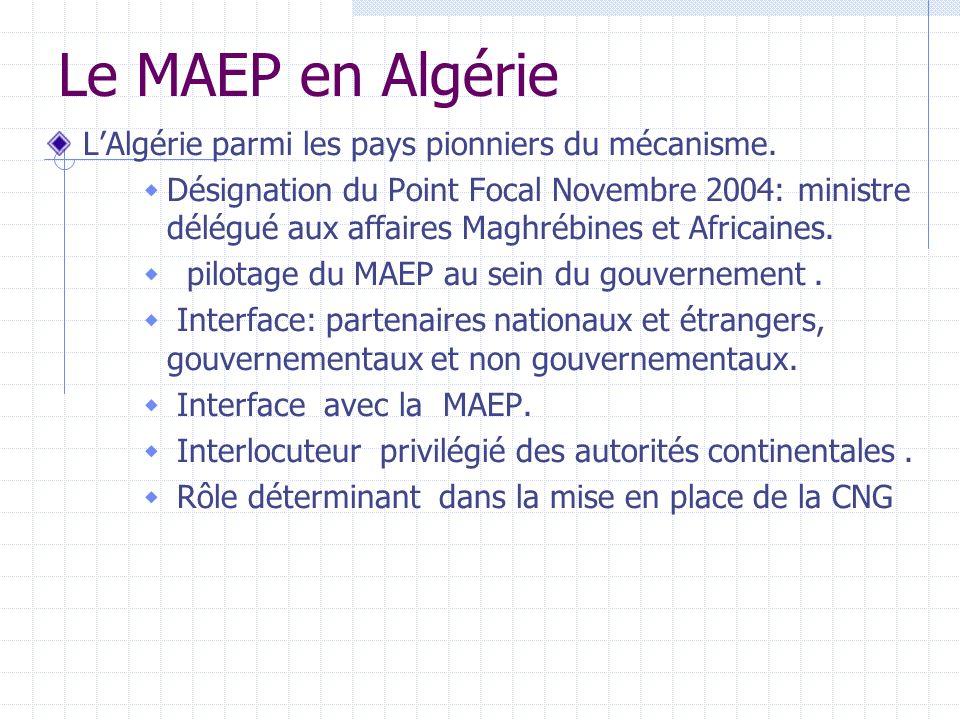 Le MAEP en Algérie LAlgérie parmi les pays pionniers du mécanisme.