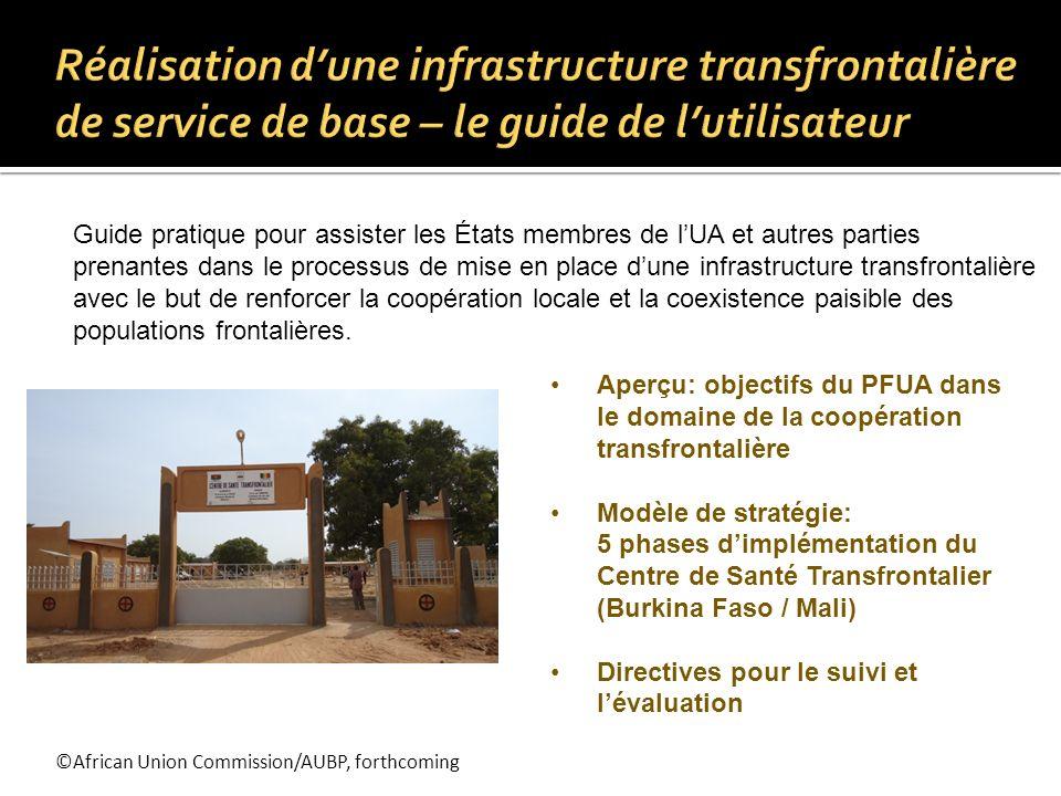 ©African Union Commission/AUBP, forthcoming Guide pratique pour assister les États membres de lUA et autres parties prenantes dans le processus de mis
