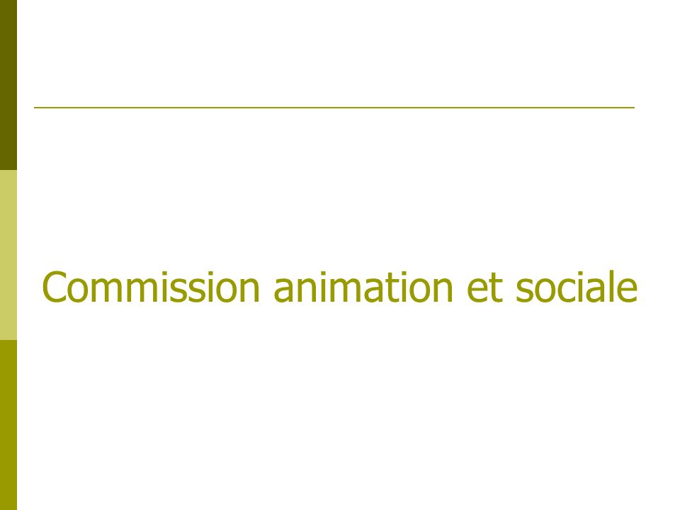 Commission animation et sociale
