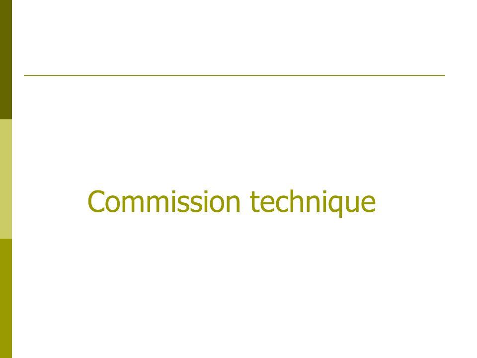 Ses principaux objectifs sont : didentifier les travaux à mettre en place détablir un chiffrage de prioriser les travaux La commission est constituée de : Laurent Genestier Cyril Drevet Eric Goux Commission technique