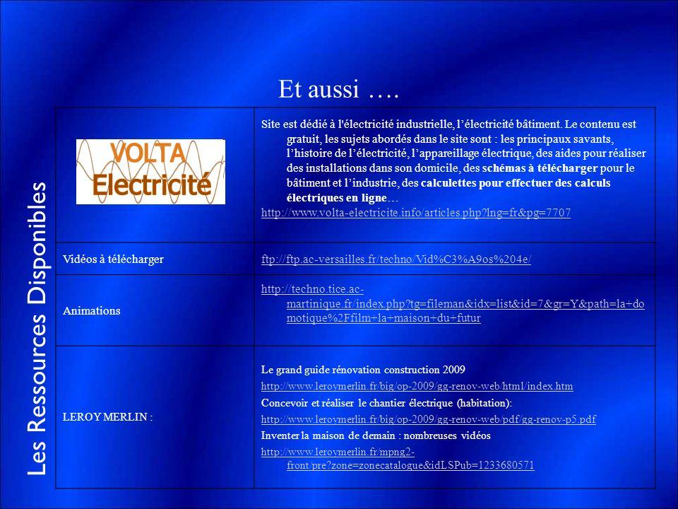 Les Ressources Disponibles Et aussi …. Site est dédié à l'électricité industrielle, lélectricité bâtiment. Le contenu est gratuit, les sujets abordés