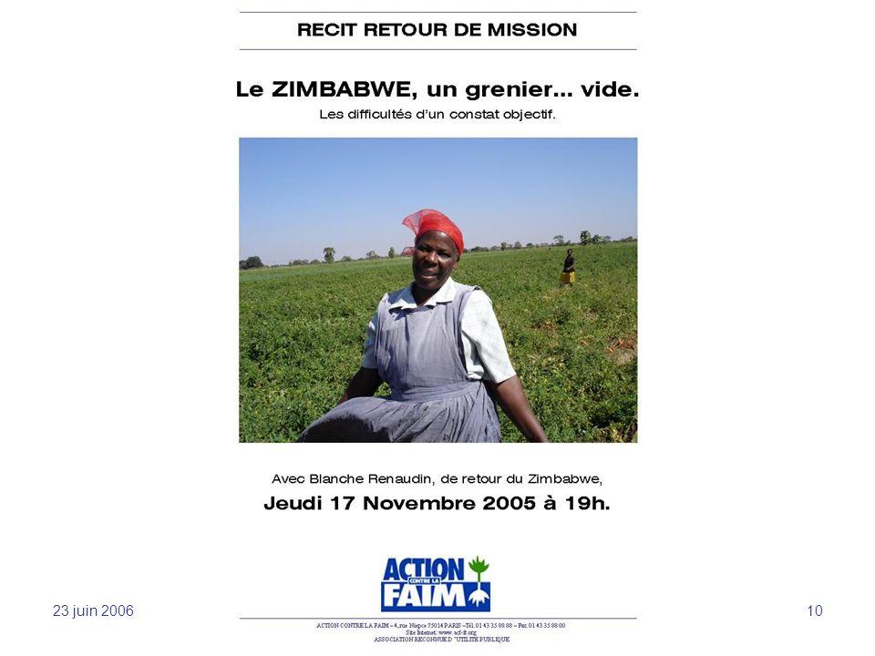 23 juin 2006 Sensibilisation et mobilisation -JFL 10