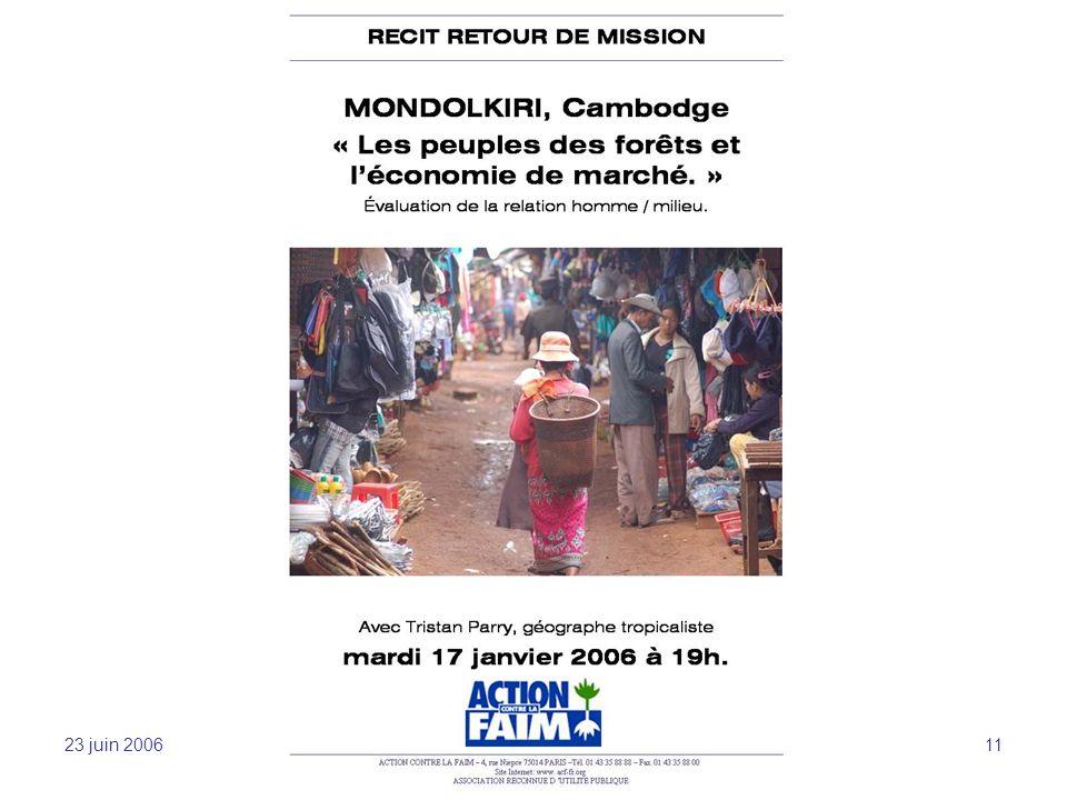 23 juin 2006 Sensibilisation et mobilisation -JFL 11