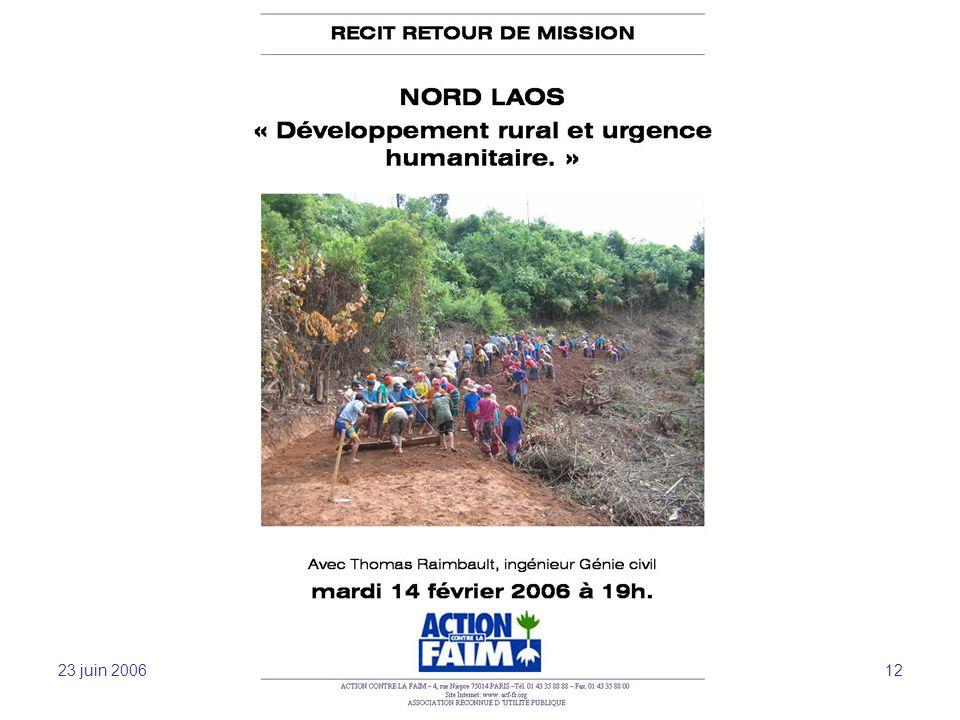 23 juin 2006 Sensibilisation et mobilisation -JFL 12