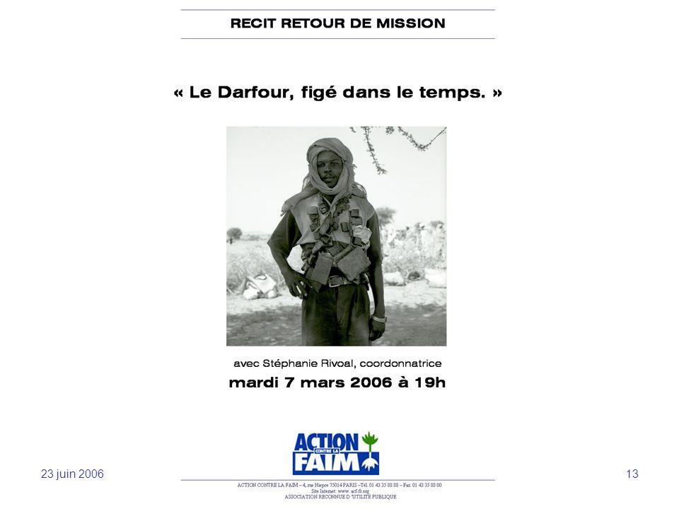 23 juin 2006 Sensibilisation et mobilisation -JFL 13