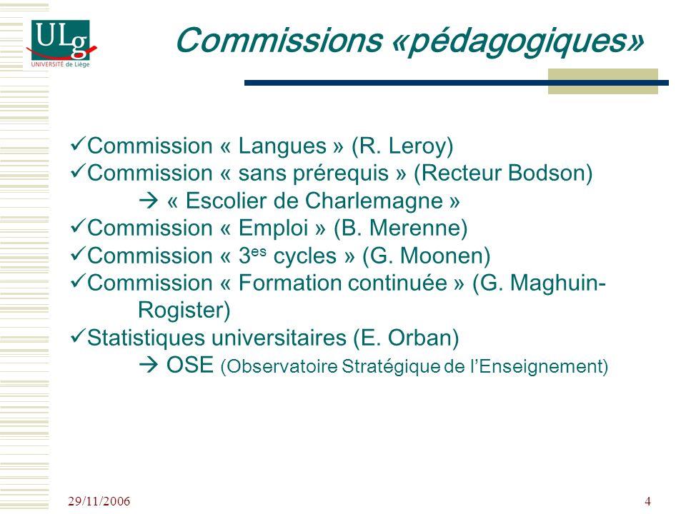 29/11/2006 5 Commission propédeutique (A.