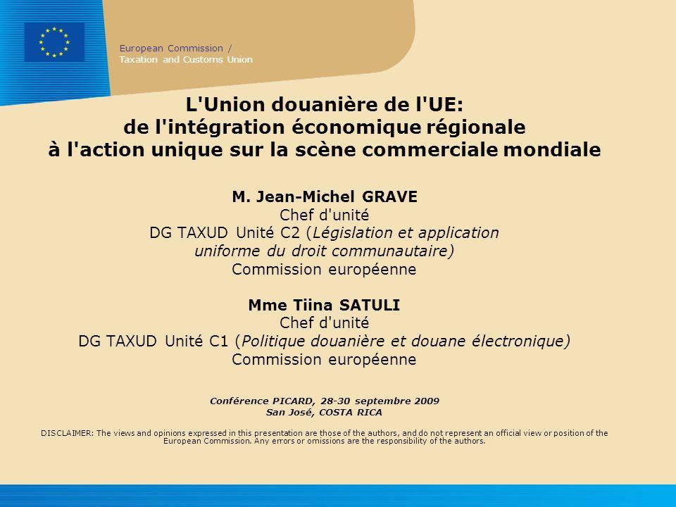 European Commission / Taxation and Customs Union 12 Autres questions ? Merci de votre attention