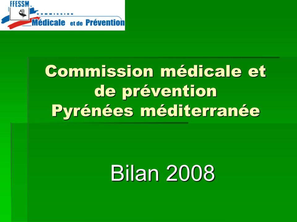 Commission médicale et de prévention Pyrénées méditerranée Bilan 2008