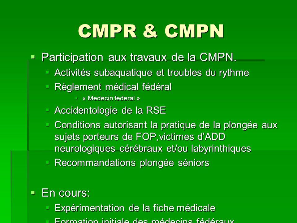 CMPR & CMPN Participation aux travaux de la CMPN.Participation aux travaux de la CMPN.