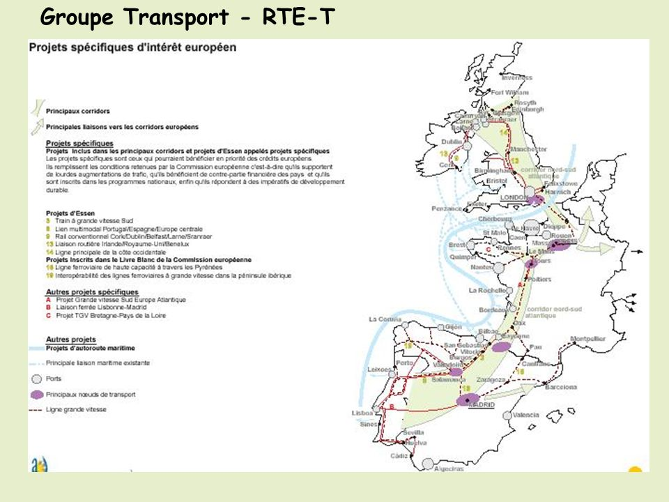 Groupes de travail -Transport Groupe Transport - RTE-T