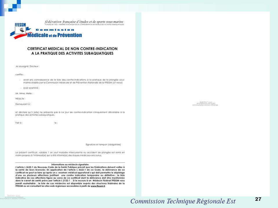 27 Commission Technique Régionale Est